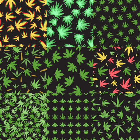 Marijuana seamless pattern vector.