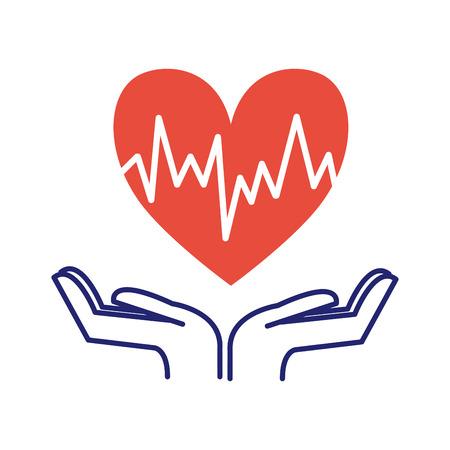 acquired: Heart care symbol vector illustration. Illustration