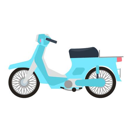 Retro vector scooter illustration. Foto de archivo