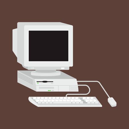 Ilustración vectorial de ordenador. Foto de archivo - 69816142