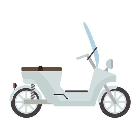 vespa: Retro vector vespa scooter motorcycle travel design. Motorbike delivery vehicle illustration. Transportation moped cartoon motor urban sign.