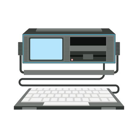 Ilustración vectorial de ordenador. Foto de archivo - 69812587