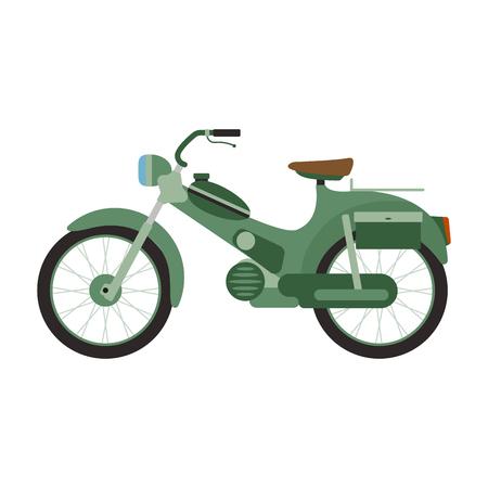 Retro illustrazione vettoriale scooter.