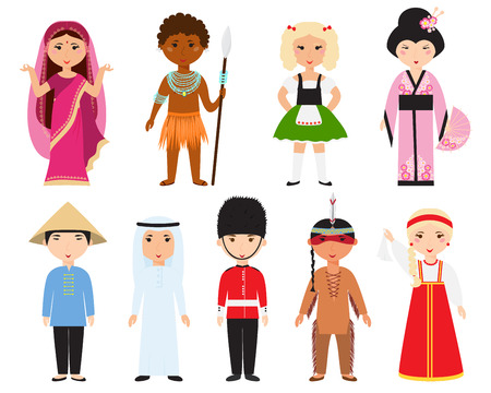 people: Different nations people vector.