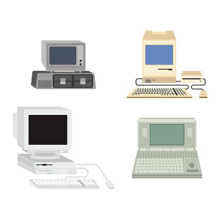 Ilustração vetorial de computador. Foto de archivo - 69812636