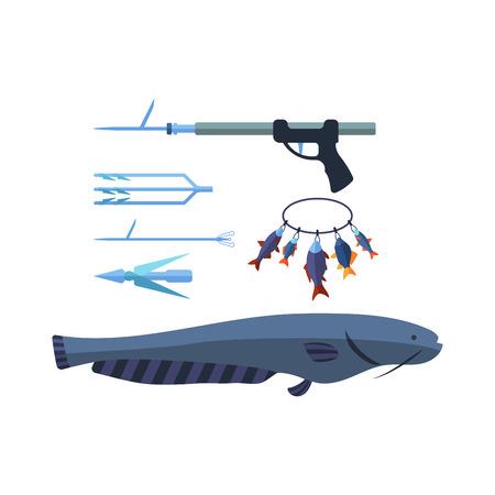 Speargun vector illustration Illustration