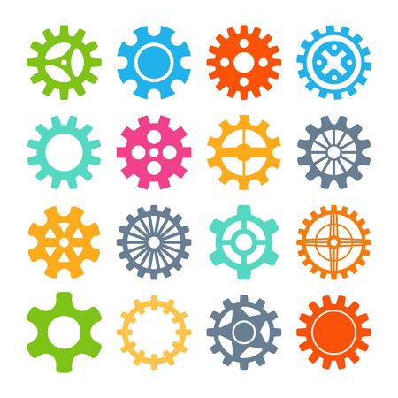 icônes Gear isolées illustration vectorielle.