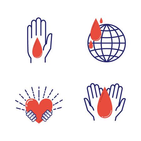 Volunteer icons vector set.