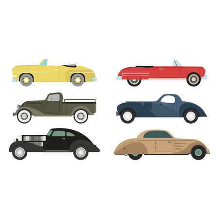 Retro car vector illustration.