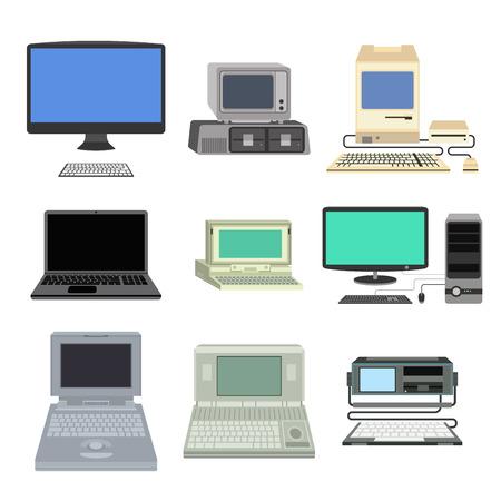 Ilustración vectorial de ordenador. Foto de archivo - 69833979