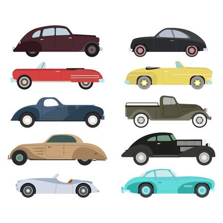 retro: Retro car vector illustration.