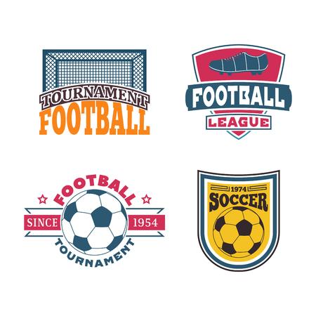 soccer: Soccer sign vector set. Illustration