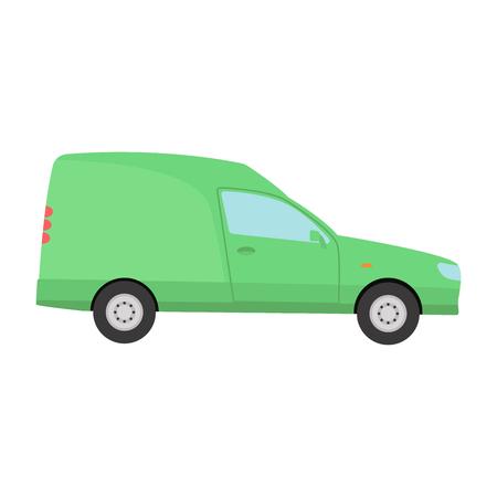 mini car: Car vechicle mini van transport vector.