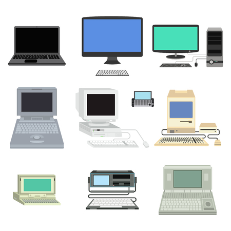 old notebook: Computer vector illustration. Stock Photo