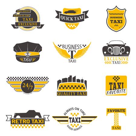 Taxi Abzeichen Vektor-Illustration. Standard-Bild - 70189437