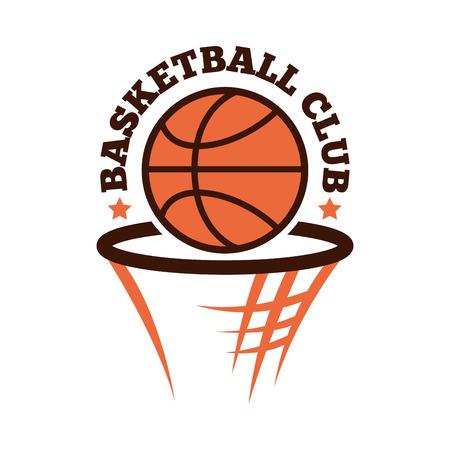 Basketball championship badge vector. Vektorové ilustrace