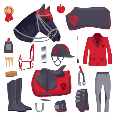 Jockey horse icons vector. Illustration