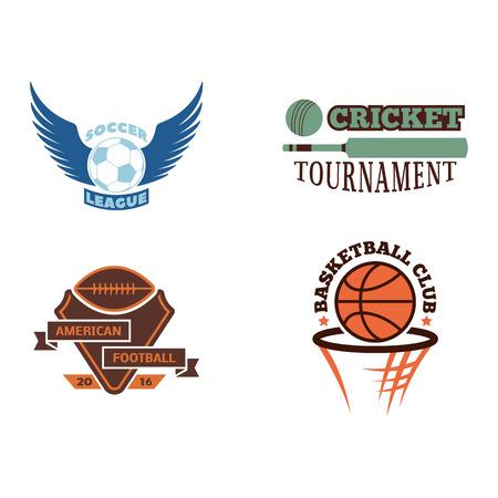 Sport team badge vector set. Illustration