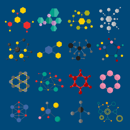 Molecular structure vector illustration isolated