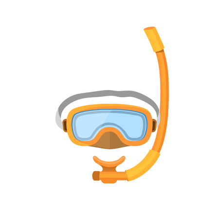 scuba goggles: Diving mask isolated on white background.