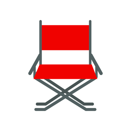 folding screens: Director movie chair vector.