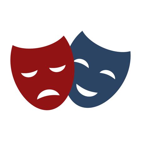caretas teatro: Máscaras del teatro del vector.