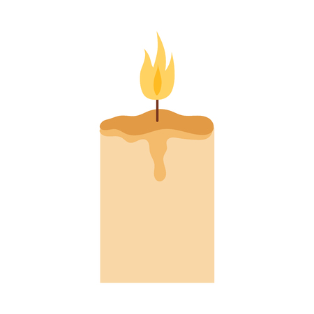 Vector candle romantic wax party decoration. Illustration