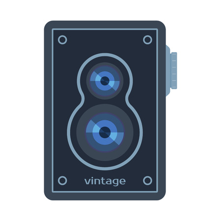 Retro photo camera vector illustration.