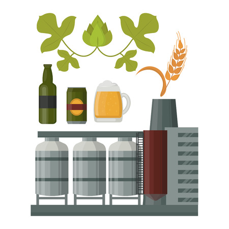 Beer production illustration.