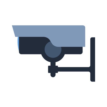 security technology: Security camera safety technology. Illustration