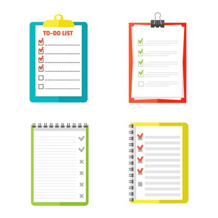 agenda: Agenda list concept illustration