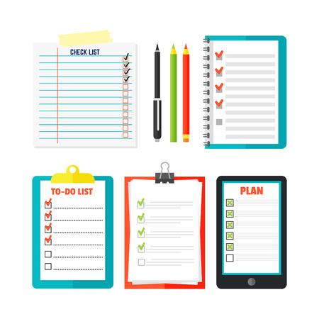 Agenda list concept vector illustration.