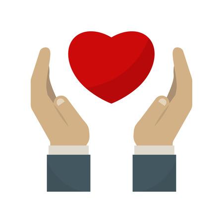 immunodeficiency syndrome: Heart care symbol vector illustration. Illustration