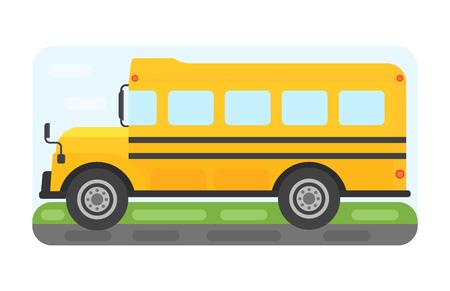 Transporte de autobús escolar para niños ilustración vectorial.
