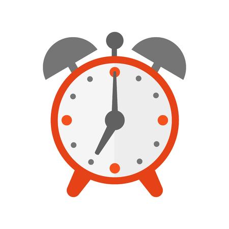 Clock watch alarm vector icon illustration.