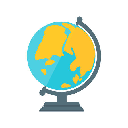 geography: Globe earth geography element icon vector illustration. Illustration
