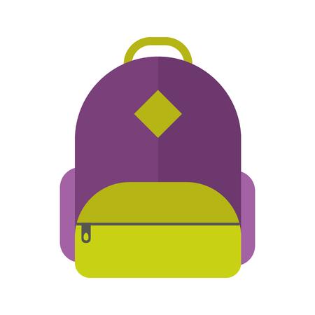 School bag vector illustration isolated. Illustration
