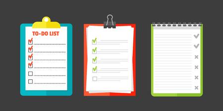 agenda: Agenda list concept vector illustration.