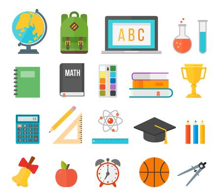 slingshot: School supplies stationery equipment vector illustration. Illustration