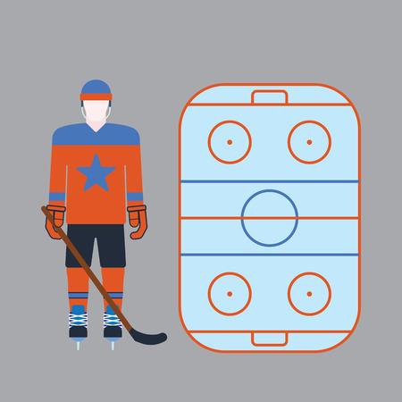 Hockey player attribution clothes vector illustration.