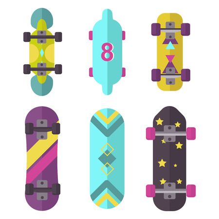 skateboard park: Skateboard icon extreme sport sign vector illustration.