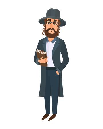hasid: Orthodox jewish man east tradition israeli religious belief judaism and holiday.