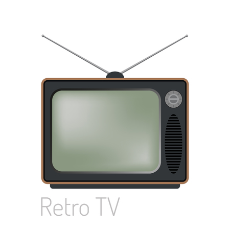 TV screen vintage monitor template electronic device technology digital size diagonal display and video retro plasma home tool vector illustration.