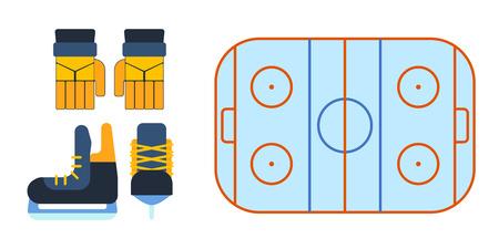 Hockey skates vector illustration ice boots pair.