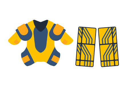 Vector hockey uniform accessory in flat style. Illustration