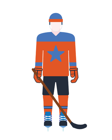 attribution: Hockey player attribution clothes vector illustration.