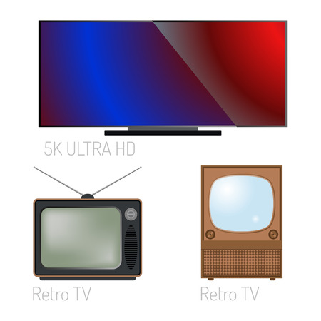 TV screen lcd monitor template electronic device technology digital size diagonal display and video modern plasma home computer vector illustration.