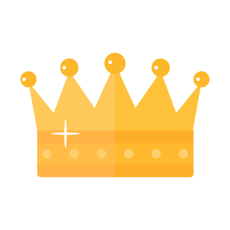 Golden crown vector illustration.