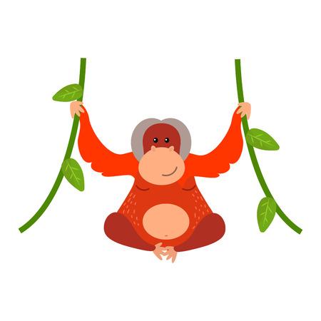 Macaque monkey rare animal vector.