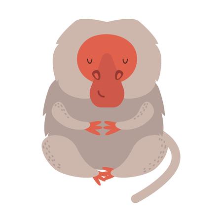 Macaque monkey rare animal.